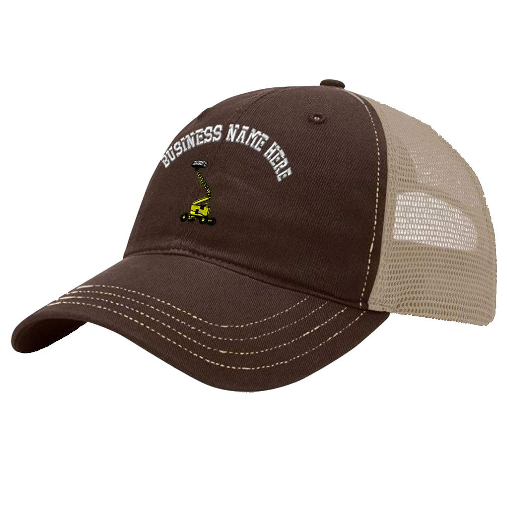 Custom Trucker Hat Richardson Man Lift Trucks A Embroidery Business Name Cotton