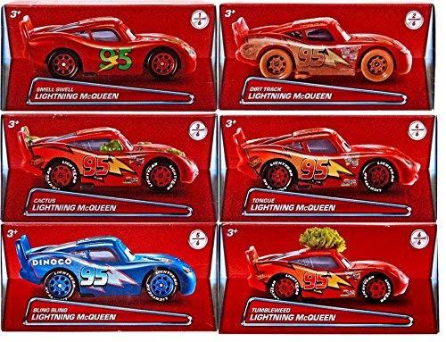 Disney/Pixar Cars 2017 Exclusive Lightning McQueen Die-Cast Car Bundle of 6