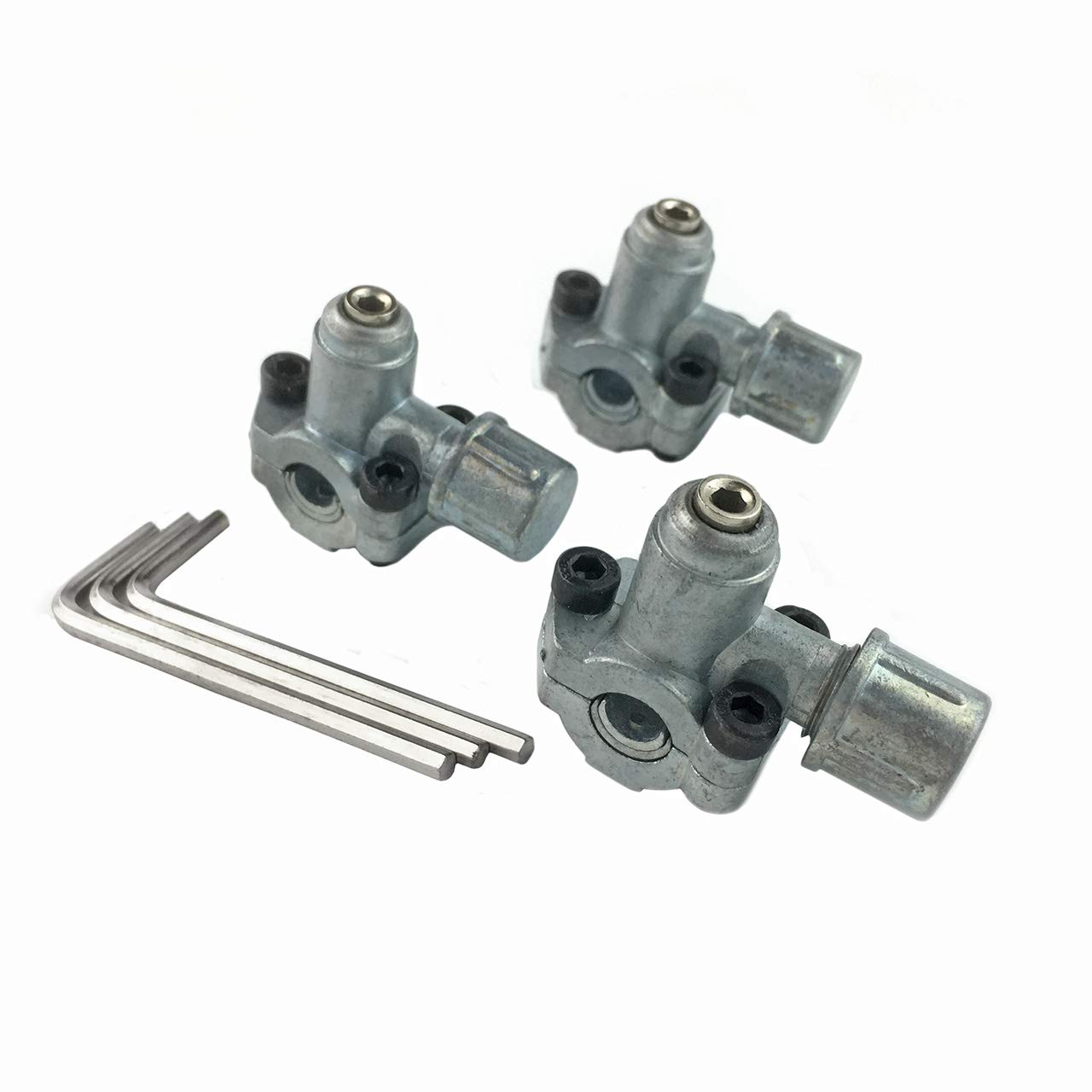 "Ximoon (3 PACK) BPV-31 Bullet Piercing Valve 3 in 1 Access for Air Conditioners HVAC 1/4"", 5/16"", 3/8"" Tubing"