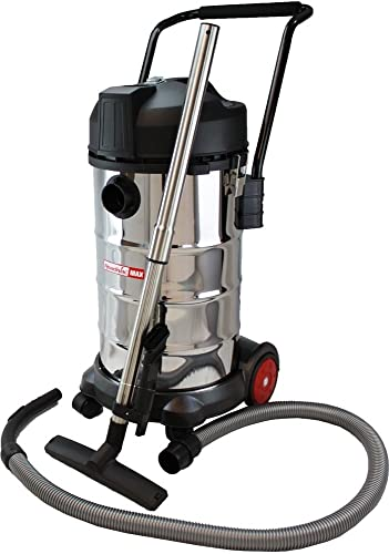 ReadiVac 10 gallon Wet Dry Vac, Stainless Steel – Corded