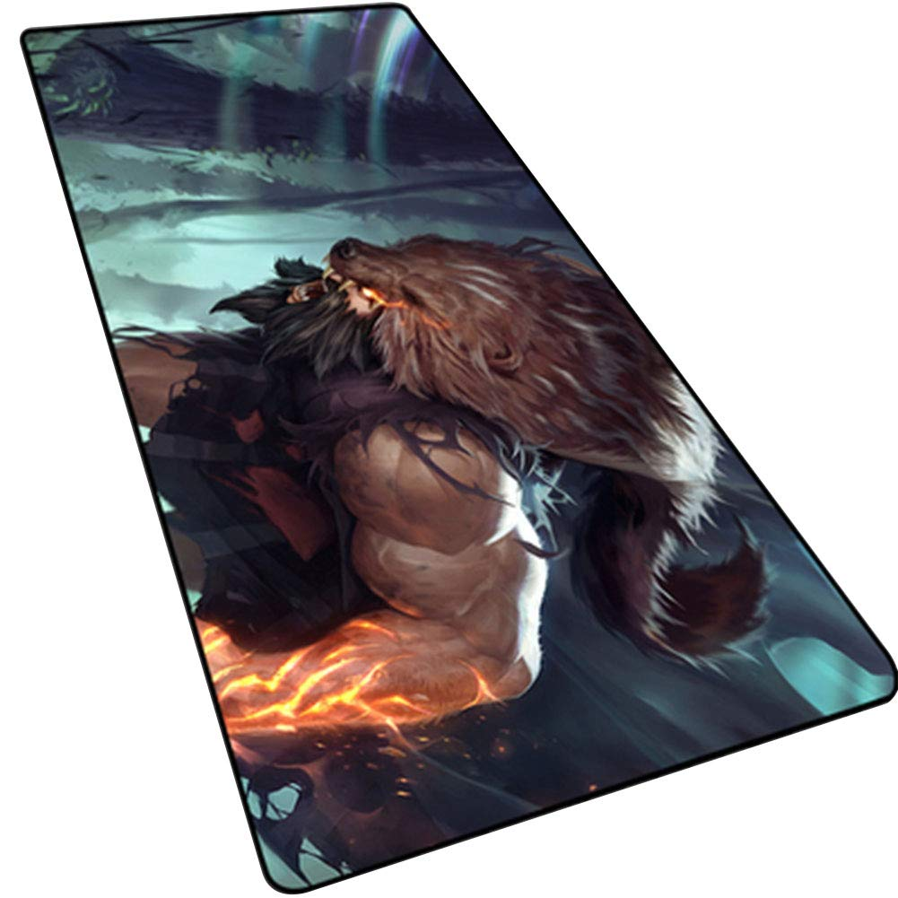 LOGER Oversized Gaming Mouse pad, Padded Seam Racing Table mat, Computer Keyboard pad, Non-Slip Waterproof, Suitable for Office games-14-80x30cm by LOGER