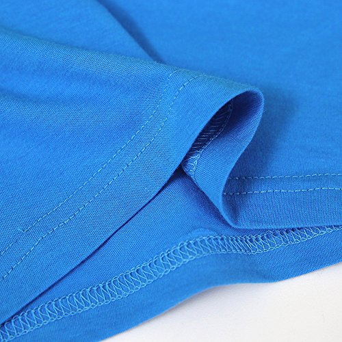 Kids Cheap T Shirts,Boys Solid Candy Color Tee Tops Little Girls T Shirts Pajama Shirts.(Blue,100) by Wesracia (Image #6)