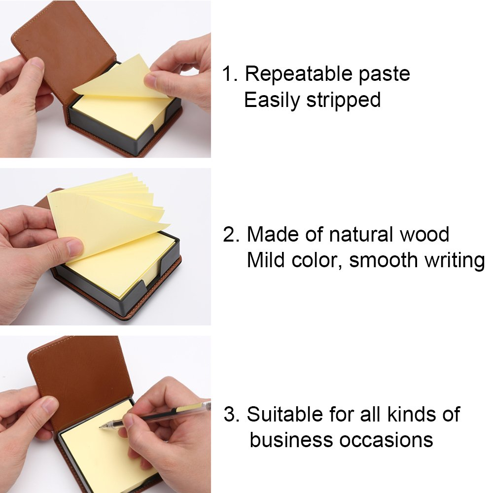MyLifeUNIT Business Sticky Notes Holder with 3 x 3 inch Sticky Note, 3 Pack (Black) by MyLifeUNIT (Image #4)