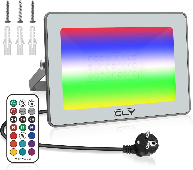 2er Set RGB LED MURO ESTERNO TELECOMANDO luci da giardino in alluminio corte dimmerabile lampade