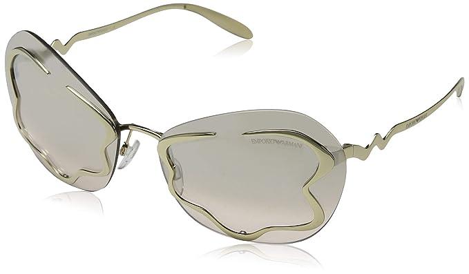 Emporio Armani 0EA2060, Gafas de Sol para Mujer, Pale Gold ...