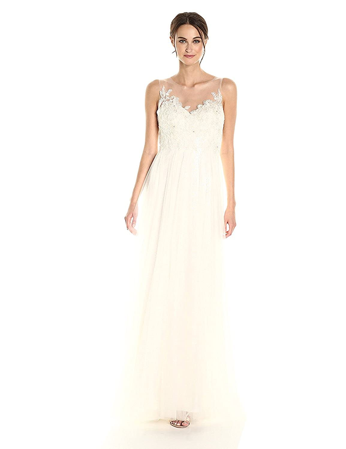 Jenny Yoo Women's Isla Lace and Tulle Wedding Gown Ivory/Ivory 2 [並行輸入品] B075CHTFWX