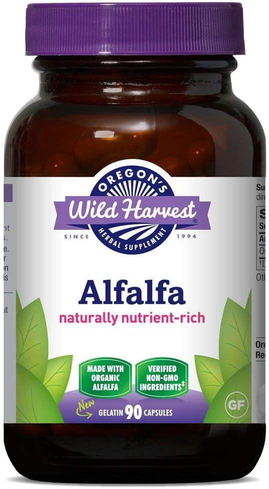 Oregon's Wild Harvest Non-GMO Alfalfa Capsules Organic Herbal Supplements, 90 Count: Health & Personal Care