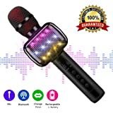 Microfono karaoke, Microfono Karaoke Bluetooth senza fili per bambini Macchina Karaoke Wireless portatile con altoparlante per Home Party KTV Outdoor.