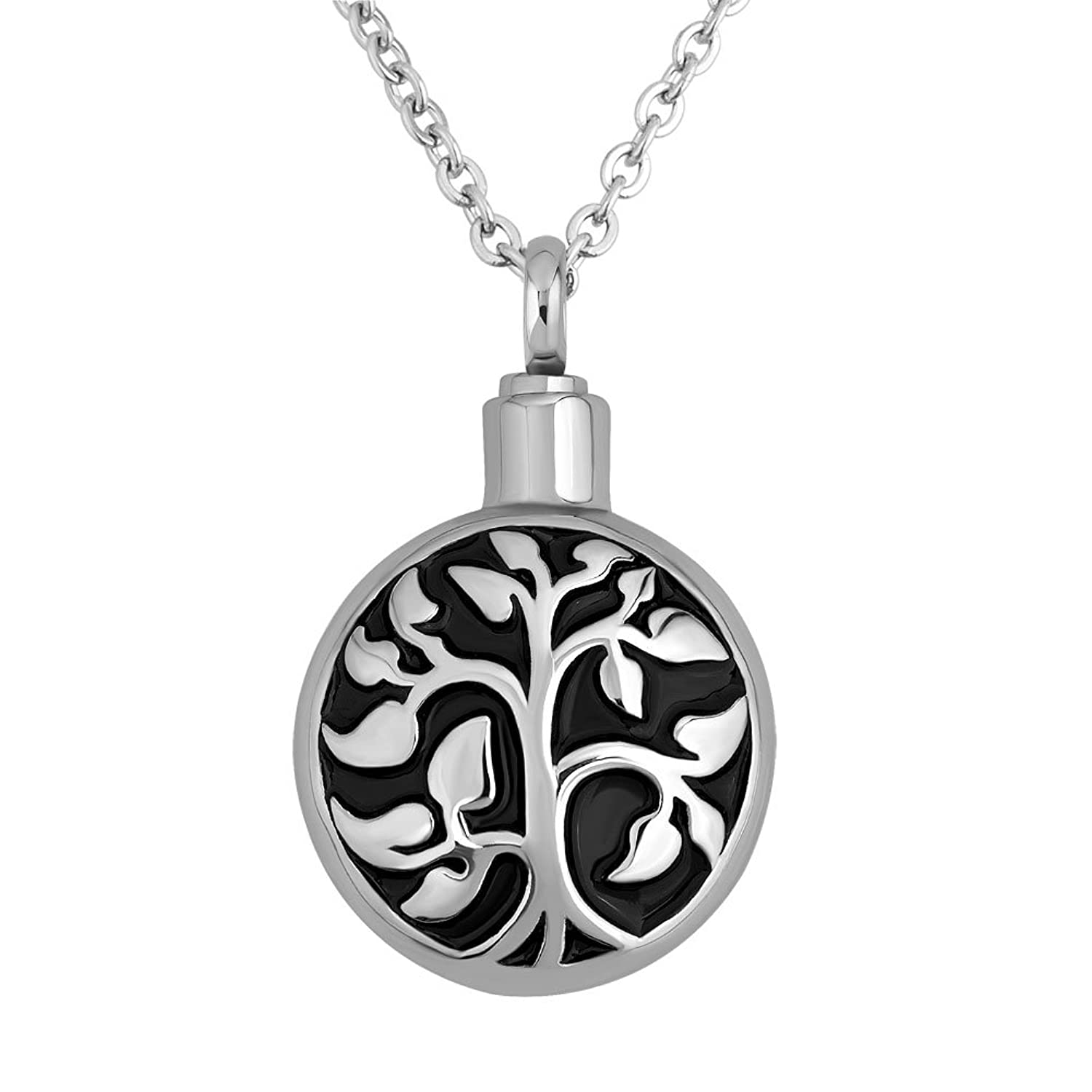 Charmed Craft Tree Of Life Urn Necklaces Human Pet Ashes Cremation Memory Stainless Steel 18'' Chain