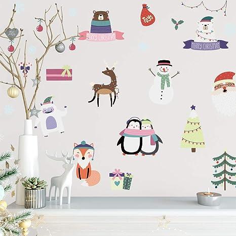 Adhesivos de pared de Navidad Murales para puerta de ventana ...
