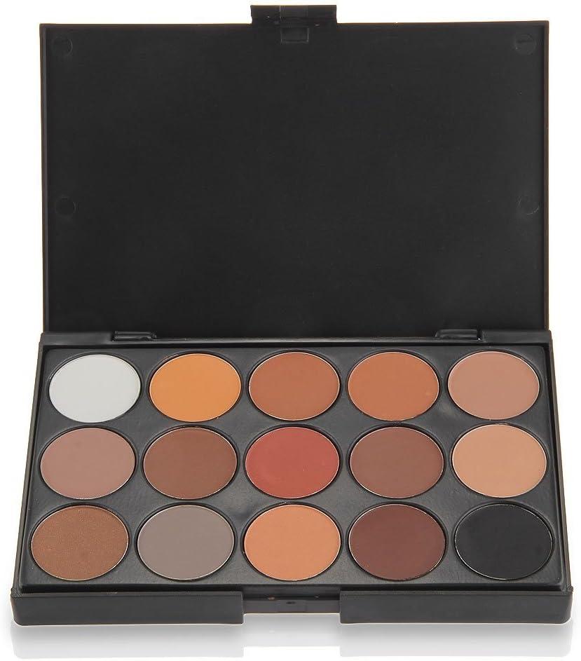 SODIAL (R) Paleta de Sombras de Ojos 15 Colores calidos para Maquillaje de Ojos profesionales: Amazon.es: Juguetes y juegos