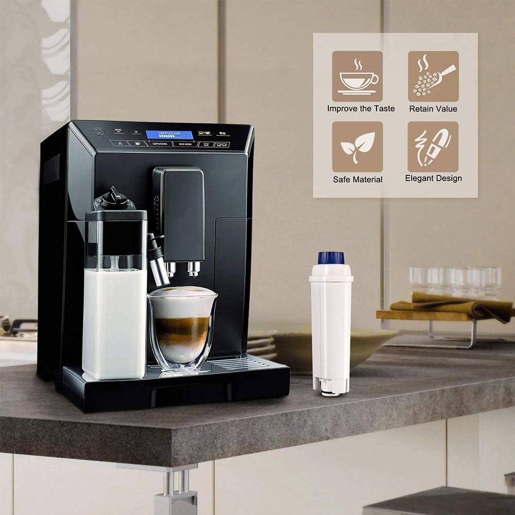 4 unidades ETAM compatible con Delongie ECAM EC. Esam Filtro de agua para cafeteras Delongie DLSC002 BCO YQLM filtro de agua de filtro de carb/ón activo suavizante