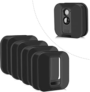 Blink XT Case, Silicone Skin for Blink XT Outdoor Home Security Camera UV and Water-Resistant, Indoor Outdoor Blink XT Protecting Case, 4 Pack, Black