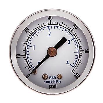 """everpert 1/8 """"NPT compresor de aire/hidráulico medidor de presión 0"""