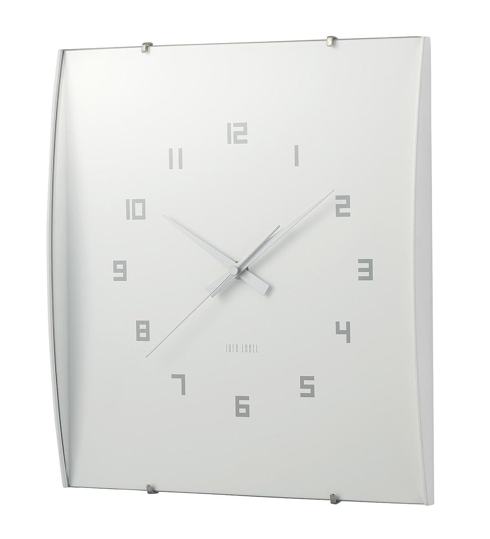 ウッドガラスクロックグランデ LCW027-WH B0026O2KIIホワイト