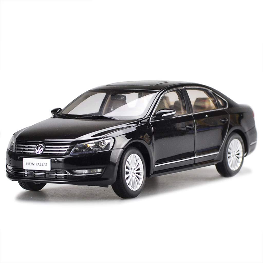 SXET-Model car Model Car Die Casting Model 1:18 Volkswagen Passat Car Model Alloy Car Model Car Model Decoration (Color : Black)