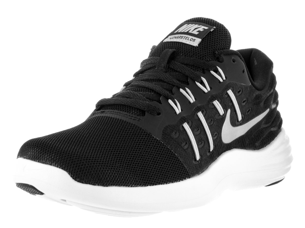 NIKE Women's Lunarstelos Running Shoe B002OE3EEO 9.5 B(M) US|Black/Metallic Silver/Anthracite/White