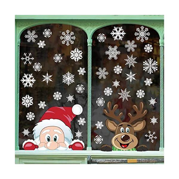Adesivi Decorativi Natalizi,Yuson Girl Romantic Atmosphere Natale Fiocchi Di Neve Finestra Decori Adesivi per Natale Partito Casa Bambini Decor 3 spesavip