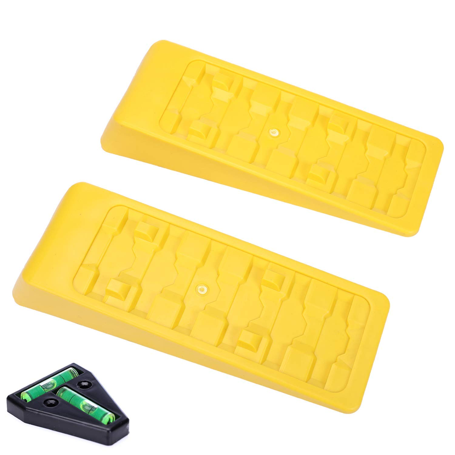 Tire Chocks for Caravan Truck Van SUV Cars 2 Pack Heavy Duty Camper Leveler Up to 3.8 inches Homeon Wheels RV Leveling Blocks Wheel Chocks Trailer Leveler Blocks for Trailers Campers