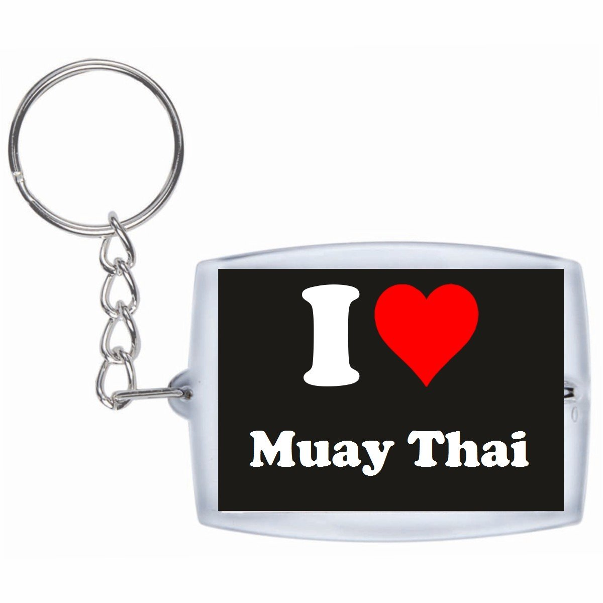 Llavero I love muay thai