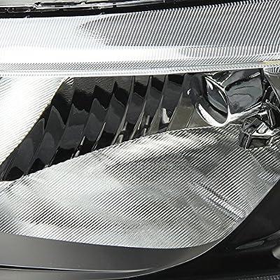 Black Housing Amber Reflector DNA MOTORING HL-OH-HC064D-BK-AM Headlight Assembly Driver and Passenger Side