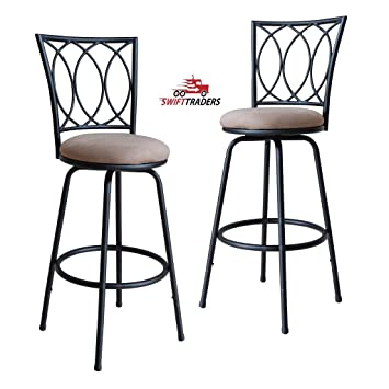 Fantastic Amazon Com Swift Traders Folsom Adjustable Metal Bar Dailytribune Chair Design For Home Dailytribuneorg