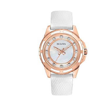 Amazon.com: Bulova - Reloj de pulsera para mujer (1.260 in ...