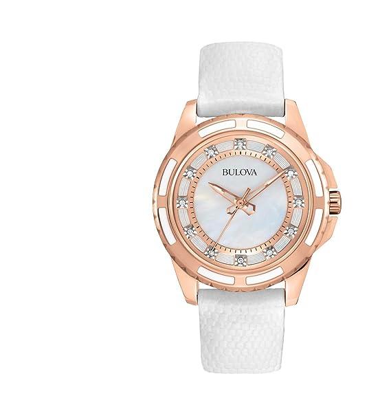 0525f90dfeb6 Bulova 98P119 Reloj Analógico para Mujer