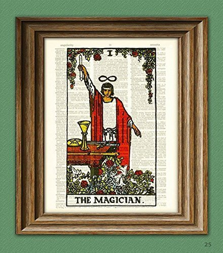 the-magician-major-arcana-tarot-card-deck-print-over-an-upcycled-vintage-dictionary-page-book-art