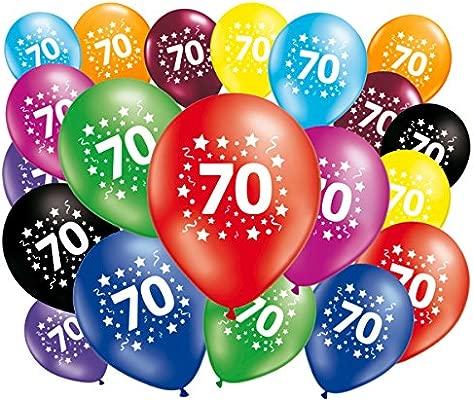 FABSUD - Lote de 20 Globos cumpleaños 70 años: Amazon.es: Hogar
