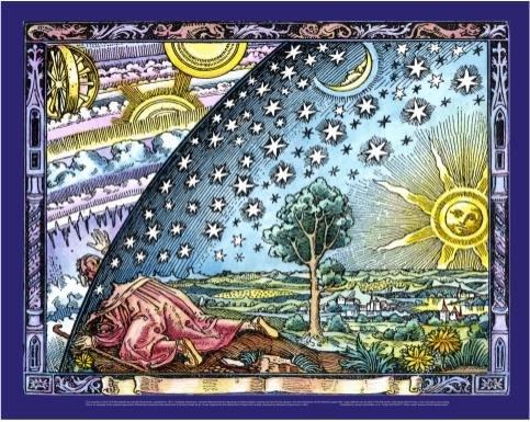 Poster Original Colour - Universe Infinity Flammarion Woodcut Poster Print X-Large Original Color