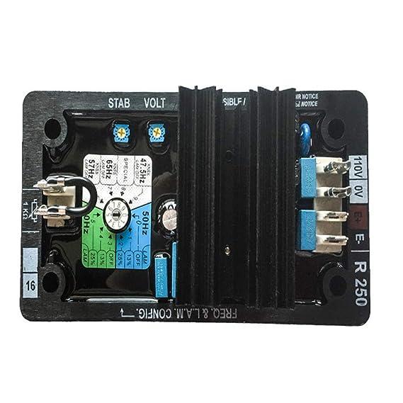 Shiwaki R-250 Accesorio de Grupo Electr/ógeno Regulador AvR con Tensi/ón Aplicable AC120V