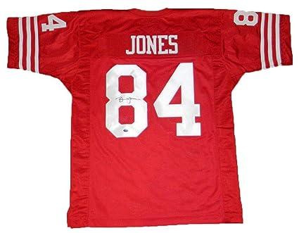 Signed Brent Jones Jersey -  84 Red Gtsm - GTSM Certified - Autographed NFL  Jerseys 98d6197b3