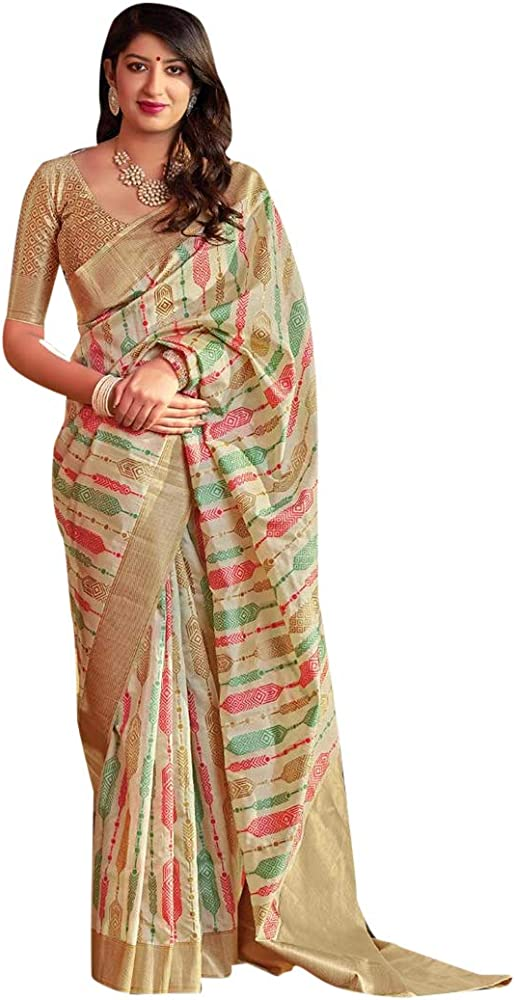 8519 Designer Vestidos de Fiesta de diseño Indio Banarasi Silk Saree Sari con la Blusa Original de Mujer India de Bollywood para la Ceremonia de Mujer étnica Vestido de Eid Women Muslim