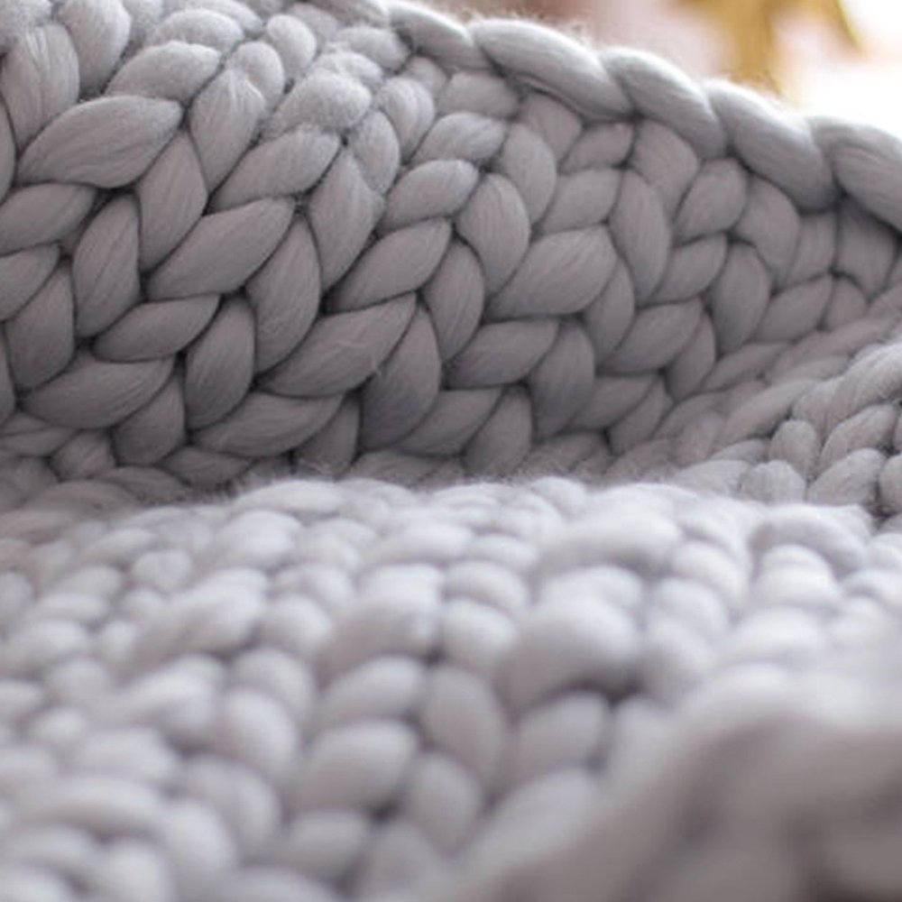 79x79in(200x200cm) Chunky Knit Blanket,Blanket,Chunky Knit Throw King Queen Size,Chunky Throw,Chunky Blanket,Giant Knit Blanket,Knitted Blanket,Arm Knitted Blanket by Cozy Chunky Blanket (Image #4)