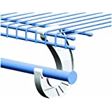 SuperSlide White Closet Rod Support (2 Packs of 2 Supports)