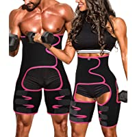 DUROFIT 3 in 1 hoge taille trimmer dij slanker zweet riem met kont lifter gewichtsverlies taille trainer cincher shaper…