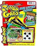Practical Joke - Scratch-off Lottery Ticket Always Wins $5,000 - Pack of 5