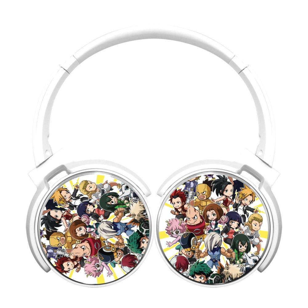 My Hero Acade-mia Wireless Headphones Bluetooth Over Ear Headphones Noise-canceling Earphone-White