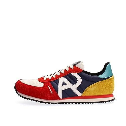 177d2edd1b313 ARMANI JEANS 935027 7P420 MULTICOLOR ZAPATILLAS DE DEPORTE Hombre  MULTICOLOR 42.5  Amazon.es  Zapatos y complementos