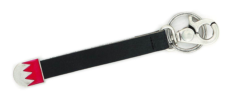 Charivari Anhänger, Schlüsselanhänger mit fränkischen Rechen! Band aus echten Leder, Trachtenschmuck in Silber