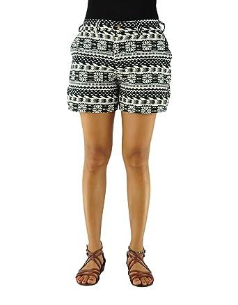 4073b15721717 virblatt Women Boho Shorts with Ethnic Pattern Boho Pants - Morgenklang BLW  Black at Amazon Women s Clothing store
