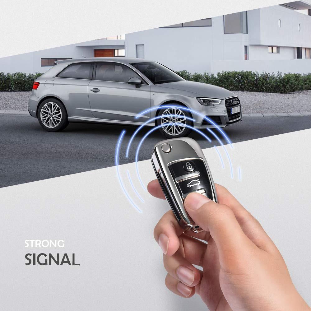 Plata Funda de protecci/ón Carcasa Suave de TPU para Llaves Audi A1 TT A4 A6 Q3 Q5 Q7 S3 R8 OATSBASF Funda Llave Audi Carcasa Llave Audi A3