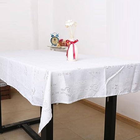 GL&G Interior húmedo carácter chino patrón de algodón y manteles ...
