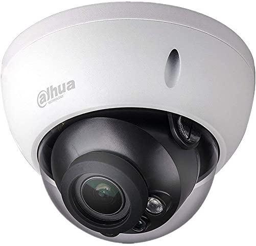 Dahua 4MP Dome IP Camera IPC-HDBW4433R-ZS Varifocal IP PoE Camera 2.7mm 13.5mm Lens Motorized Optical Zoom Outdoor Indoor Security Camera Dome with 50m IR Night Vision H.265 IK10 ONVIF IP67
