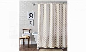 Metallic Ikat Dou Fabric Shower Curtain