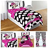 64 panel curtain - Disney Minnie Mouse Complete Bedding Comforter Set with Plush Blanket & Curtains - Full