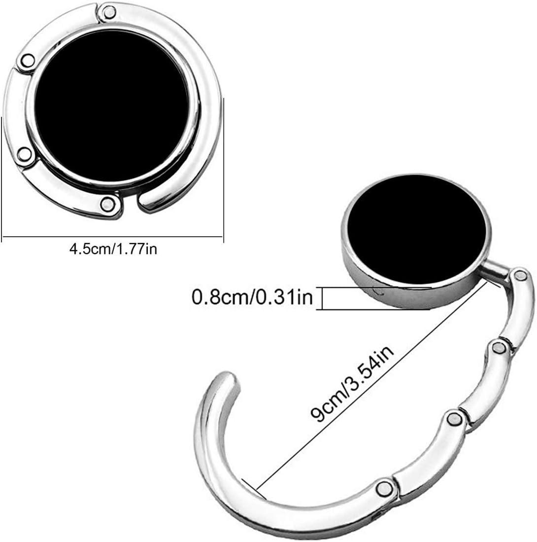 Dxichy Foldable Purse Hook Handbag Hangers for Table Handbag Storage Folding Decor Table Hook,Womens Bag Handbag Hanger Holder