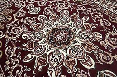 New Generations Red Burgundy Oriental Traditional Isfahan Persian Area Rugs Rug 8023red