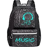 Casual Laptop Backpack with USB Charging Port, Slim Computer Backpack for Men and Women, Gudui Water Resistant Travel Bag Daypack College School BookBag for Girls and Boys Fits 15.6 In Laptop (black)